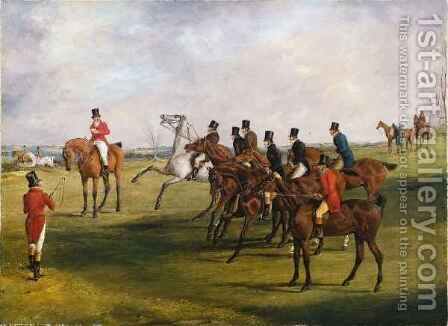 The Grand Leicestershire Steeplechase 5 by Henry Thomas Alken - Reproduction Oil Painting