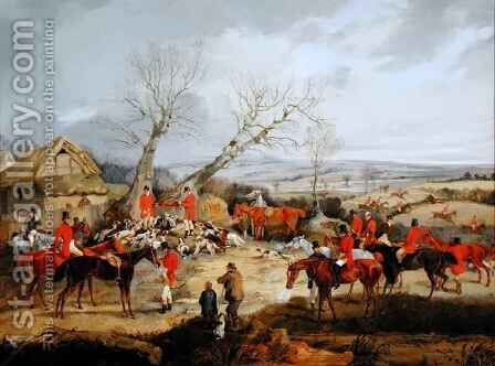 Hunting Scene, The Kill by Henry Thomas Alken - Reproduction Oil Painting