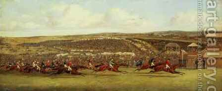 The Finish of the Derby 2 by Henry Thomas Alken - Reproduction Oil Painting