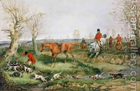Hunting Scene 4 by Henry Thomas Alken - Reproduction Oil Painting