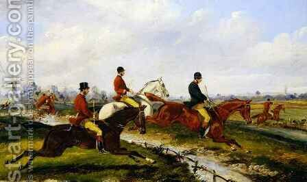 Hunting Scene 5 by Henry Thomas Alken - Reproduction Oil Painting