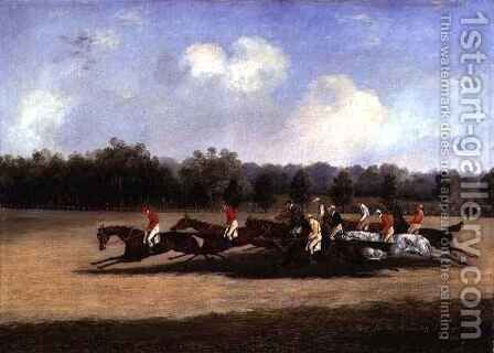 The Start of the St. Leger by Henry Thomas Alken - Reproduction Oil Painting