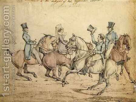 Morning Ride, original drawing for plate 12 of 'Scenes in the Life of Master George' by Henry Thomas Alken - Reproduction Oil Painting