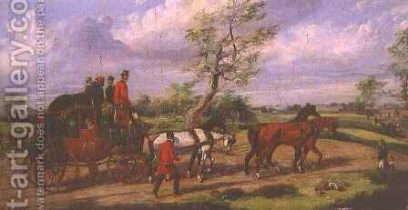 The Dover Mail by Henry Thomas Alken - Reproduction Oil Painting