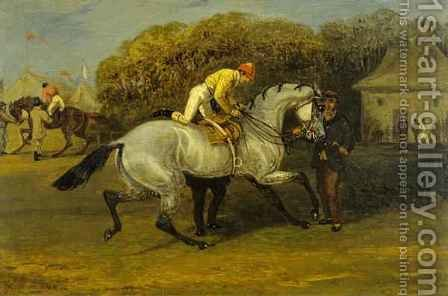 Jockey Mounting by Herny Jr Alken - Reproduction Oil Painting
