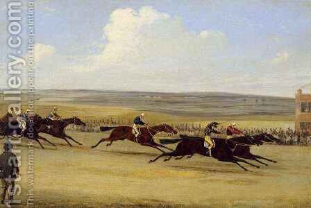 The 1850 Cambridgeshire Stakes The Finish by Herny Jr Alken - Reproduction Oil Painting