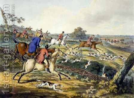 The Full Cry, from 'Foxhunting' by (after) Henry Alken - Reproduction Oil Painting