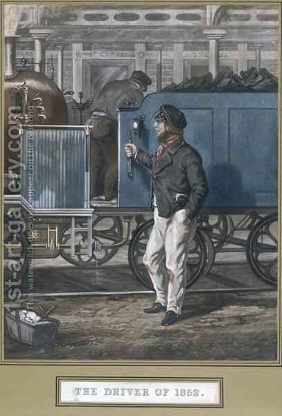 The Driver of 1852 by (after) Henry Alken - Reproduction Oil Painting