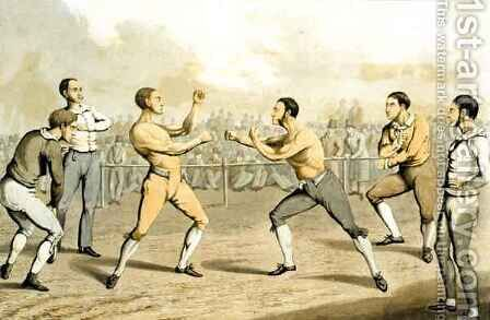 A Prize Fight, from 'The National Sports of Great Britain' by (after) Henry Alken - Reproduction Oil Painting