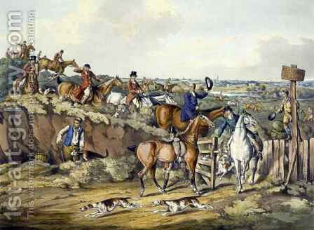 Gone Away, from 'Foxhunting' by (after) Henry Alken - Reproduction Oil Painting