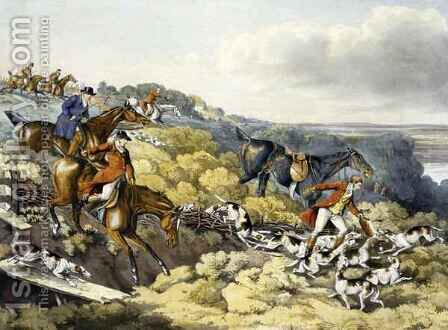 The Death, from 'Foxhunting' by (after) Henry Alken - Reproduction Oil Painting