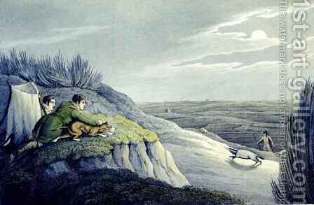 Badger Catching from the National Sports of Great Britain by (after) Henry Alken - Reproduction Oil Painting