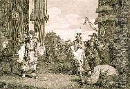 A Scene in an Historical Play Exhibited on the Chinese Stage by (after) Alexander, William - Reproduction Oil Painting