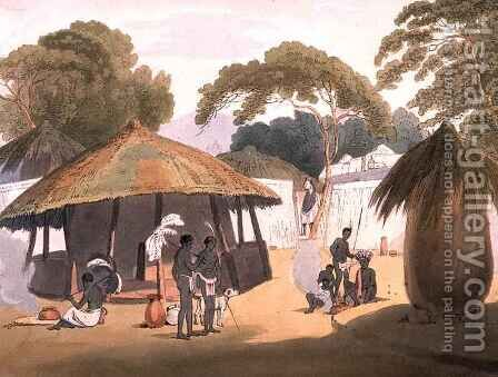 African Village by (after) Alexander, W. - Reproduction Oil Painting