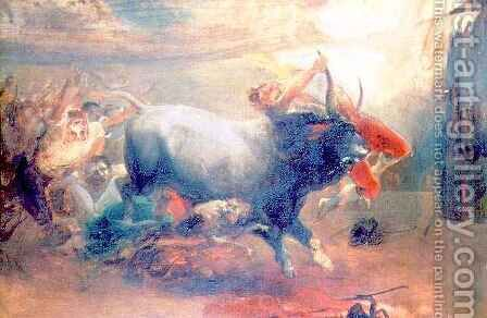 The Bull Fight by (after) Ales, Mikolas - Reproduction Oil Painting