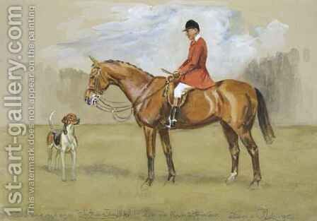 Arthur Thatcher on his Hunter by Denis Aldridge - Reproduction Oil Painting