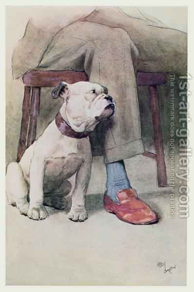 Bulldog by Cecil Charles Aldin - Reproduction Oil Painting