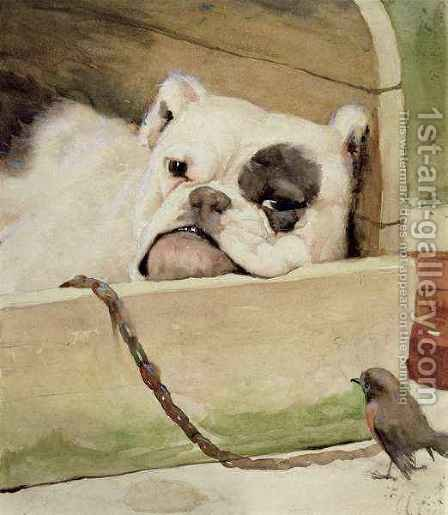 Bulldog 2 by Cecil Charles Aldin - Reproduction Oil Painting