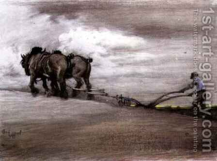 Ploughing 2 by Cecil Charles Aldin - Reproduction Oil Painting