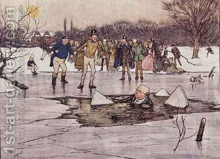 The Broken Ice by Cecil Charles Aldin - Reproduction Oil Painting