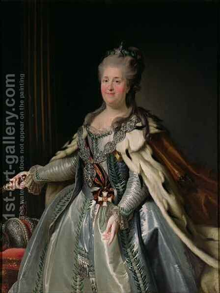 Portrait of Catherine II (1729-96) by Anton Albertrandi - Reproduction Oil Painting