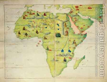 The Continent of Africa, from an Atlas of the World in 33 Maps, Venice by Christoph Ludwig Agricola - Reproduction Oil Painting