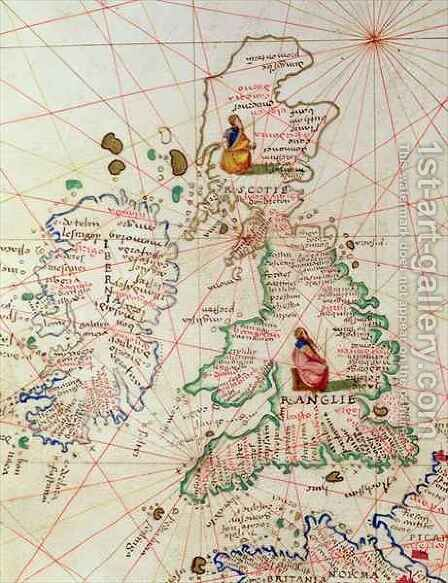 The Kingdoms of England and Scotland by Christoph Ludwig Agricola - Reproduction Oil Painting