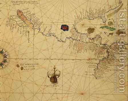 Central America, from an Atlas of the World in 33 Maps, Venice by Christoph Ludwig Agricola - Reproduction Oil Painting