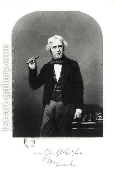 Portrait of Michael Faraday (1791-1867) by Henry Adlard - Reproduction Oil Painting