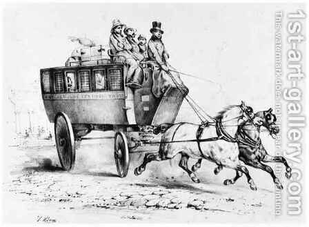 The Stagecoach by (after) Adam, Victor - Reproduction Oil Painting