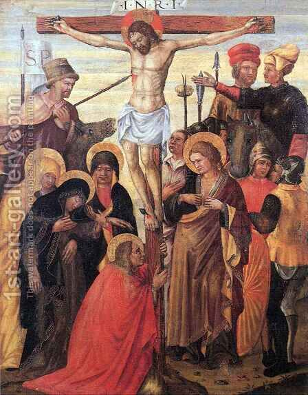 Crucifixion 3 by Antonio di Guido da Ferrara Alberti - Reproduction Oil Painting