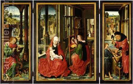 Saint Luke Triptych by Derick Baegert - Reproduction Oil Painting