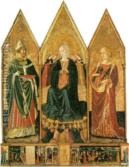 Triptych of Saint Lucy by Bartolomeo da Miranda - Reproduction Oil Painting