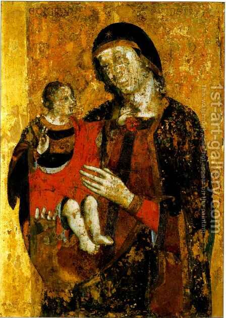 Madonna and Child by Benedictus - Reproduction Oil Painting
