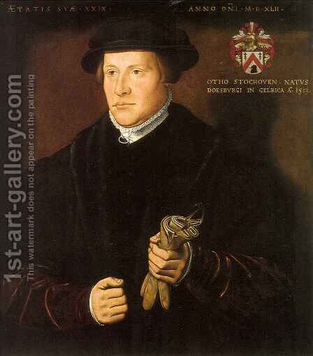 Portrait of Otho Stochoven by Ambrosius Benson - Reproduction Oil Painting