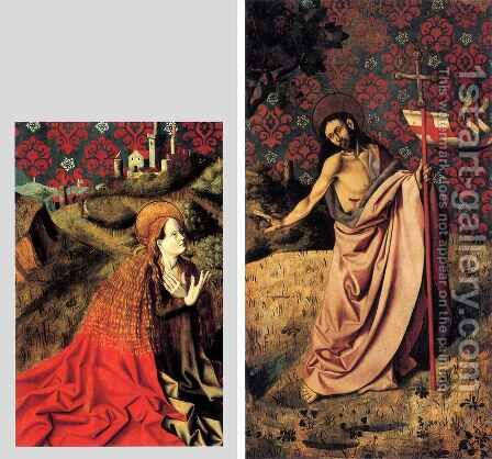 Annunciation Triptych 2 by Barthelemy d' Eyck - Reproduction Oil Painting