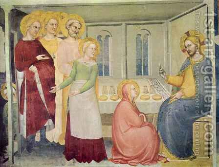 Supper in the House of Martha by Giovanni Da Milano - Reproduction Oil Painting