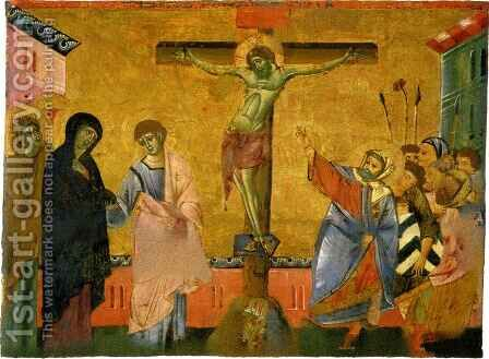 Crucifixion by Guido Da Siena - Reproduction Oil Painting
