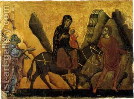 Flight into Egypt by Guido Da Siena - Reproduction Oil Painting