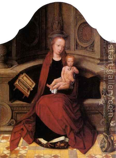Virgin and Child Enthroned by Adriaan Isenbrant - Reproduction Oil Painting