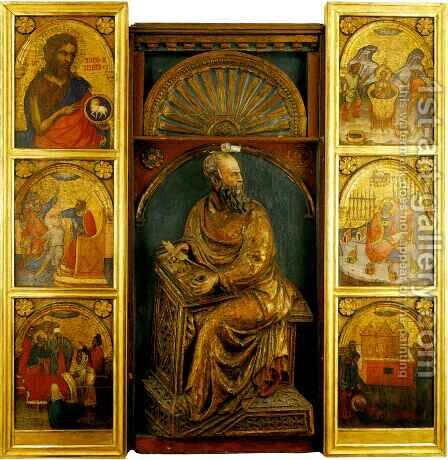 Polyptych of Saint John by Jacobello Del Fiore - Reproduction Oil Painting