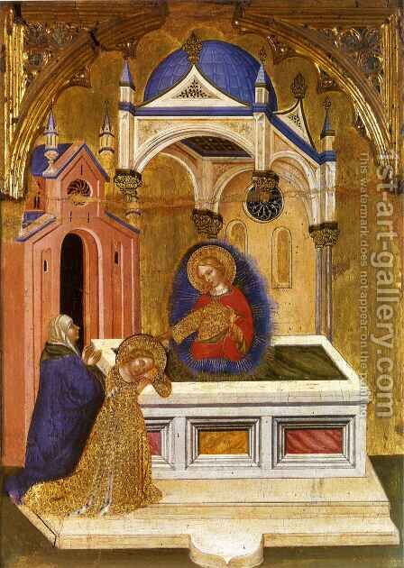 Saint Lucy at the Sepulcher of Saint Agatha by Jacobello Del Fiore - Reproduction Oil Painting