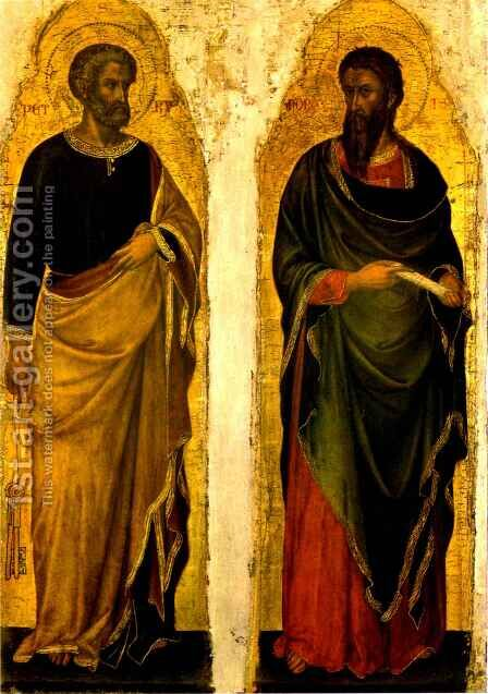 Saint Peter and Saint Andrew by Jacobello di Bonomo - Reproduction Oil Painting