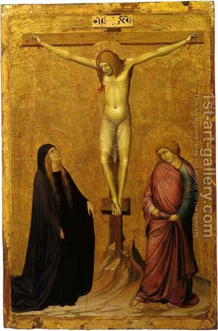 Crucifixion with Saints by Ambrogio Lorenzetti - Reproduction Oil Painting