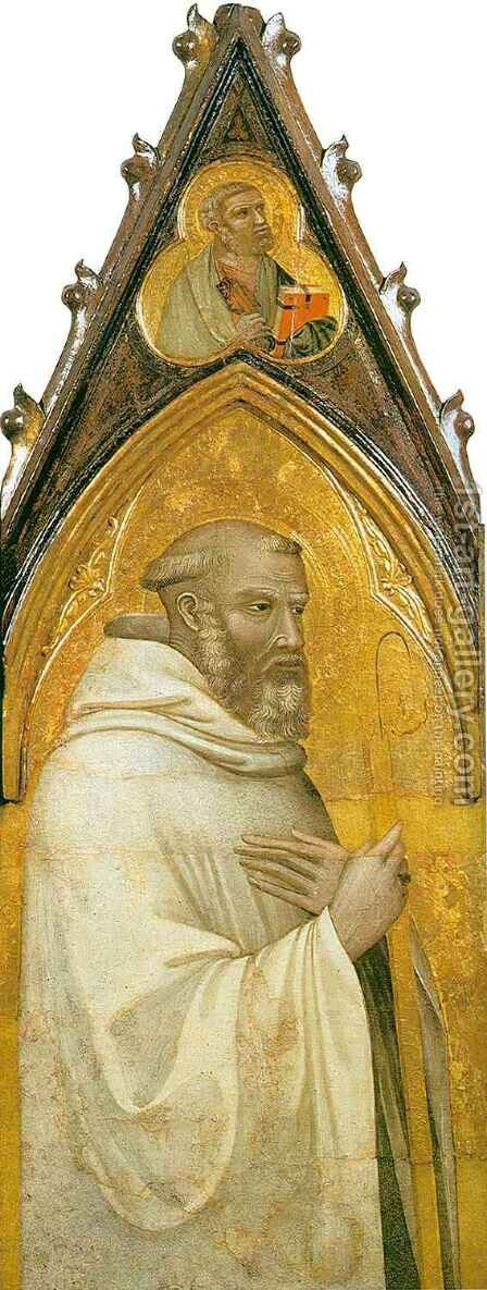 Saint Benedict by Ambrogio Lorenzetti - Reproduction Oil Painting