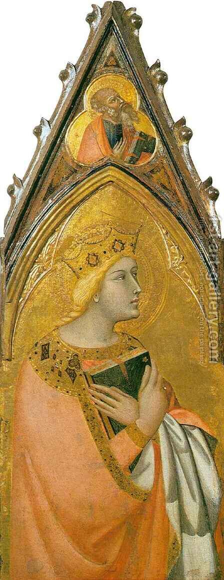 Saint Catherine by Ambrogio Lorenzetti - Reproduction Oil Painting