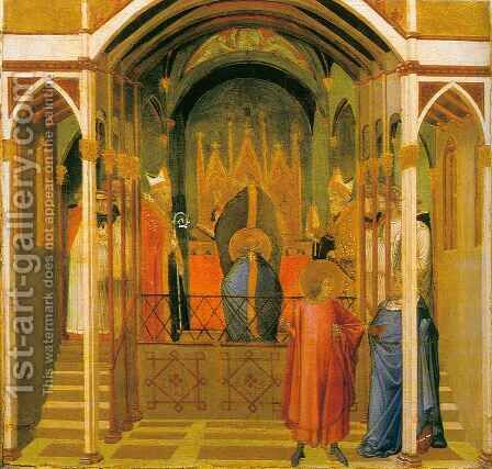 Consecration of Saint Nicolas by Ambrogio Lorenzetti - Reproduction Oil Painting