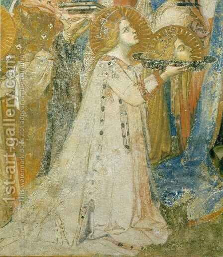 Maesta, Saint Catherine by Ambrogio Lorenzetti - Reproduction Oil Painting