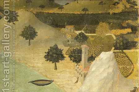 City by the Sea by Ambrogio Lorenzetti - Reproduction Oil Painting
