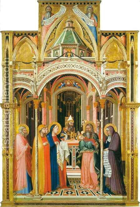 Presentation in the Temple by Ambrogio Lorenzetti - Reproduction Oil Painting